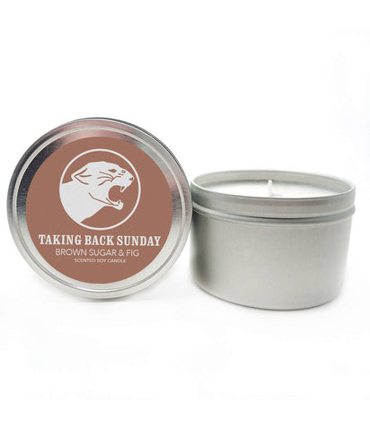 Taking Back Sunday Brown Sugar & Fig Scented Soy Candle **Preorder - Ships 12/04