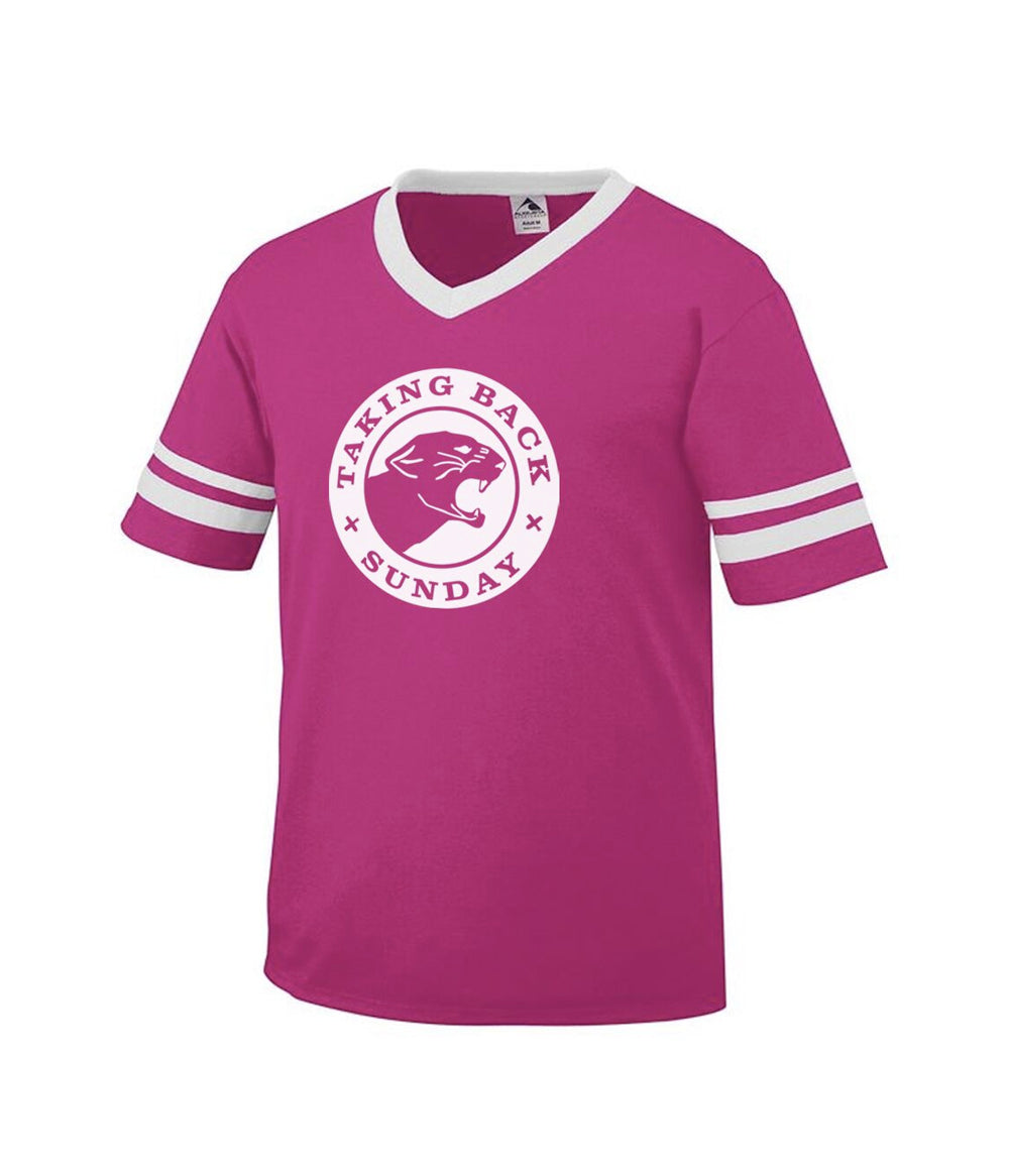 Taking Back Sunday Panther Toddler Stripe Sleeve Shirt (Pink)