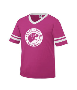 Taking Back Sunday Panther Toddler Stripe Sleeve Shirt (Pink) ***PREORDER - SHIPS EARLY JUNE 2020