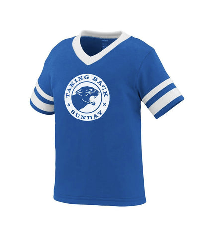 Taking Back Sunday Panther Toddler Stripe Sleeve Shirt (Blue)