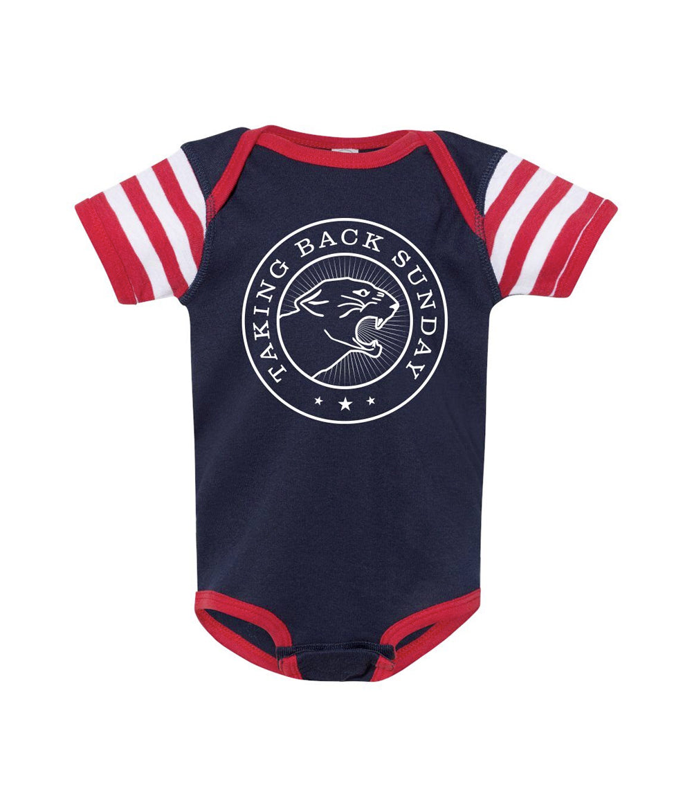 Taking Back Sunday Stripe Sleeve One Piece