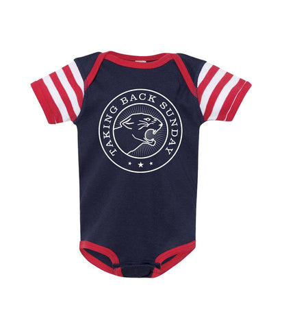 Taking Back Sunday Stripe Sleeve One Piece ***PREORDER - SHIPS EARLY JUNE 2020