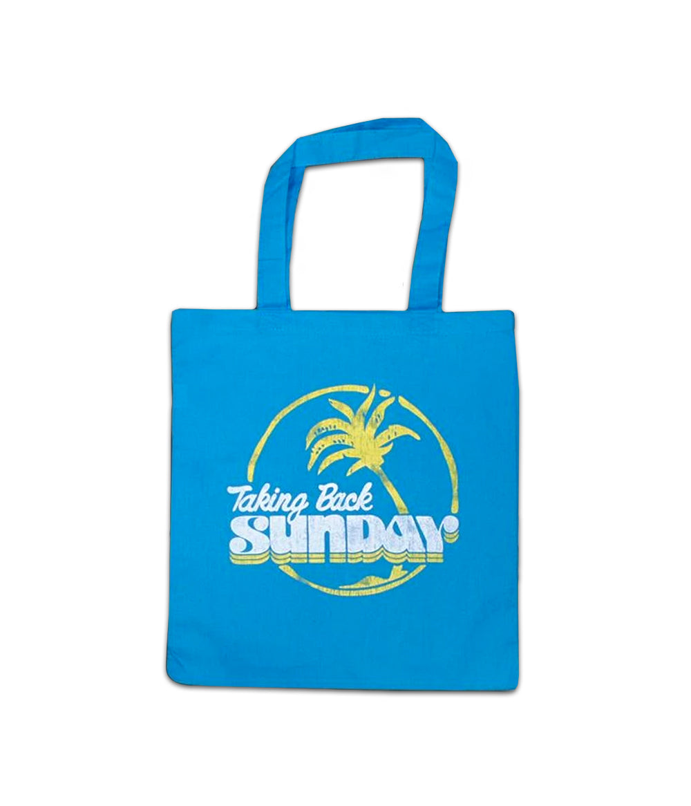 Taking Back Sunday Palm Tree Tote Bag