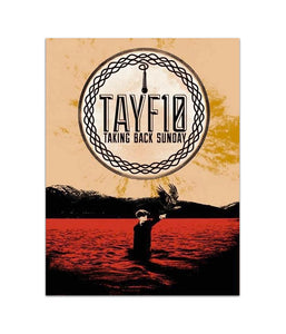 Taking Back Sunday TAYF10 Tour Poster