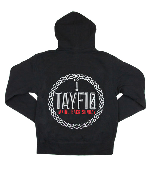 Taking Back Sunday TAYF10 Tour Zip Hooded Sweatshirt