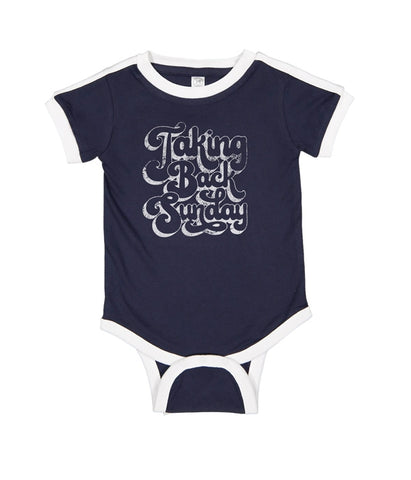 Taking Back Sunday 70s Logo One Piece (Navy)