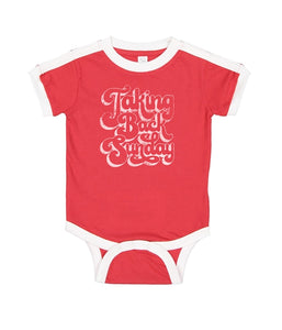 Taking Back Sunday 70s Logo One Piece (Red)