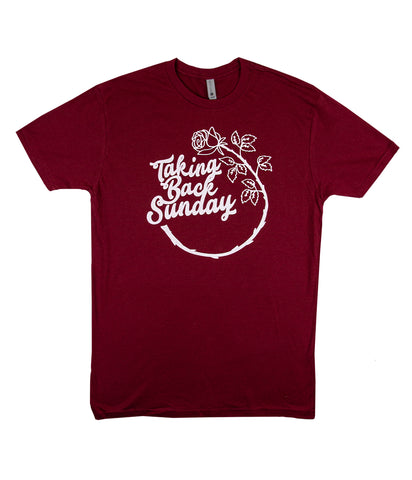 Taking Back Sunday Circle Rose Shirt
