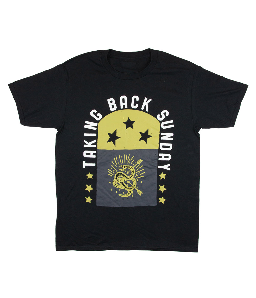 Taking Back Sunday Star Flag Shirt