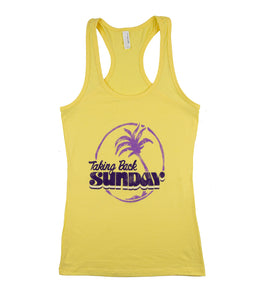 Taking Back Sunday Palm Tree Womens Tank Top