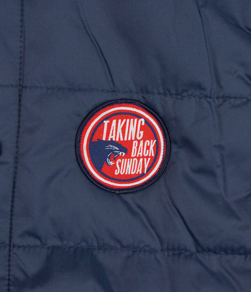 Taking Back Sunday Panther Logo Patch Vest Hoodie