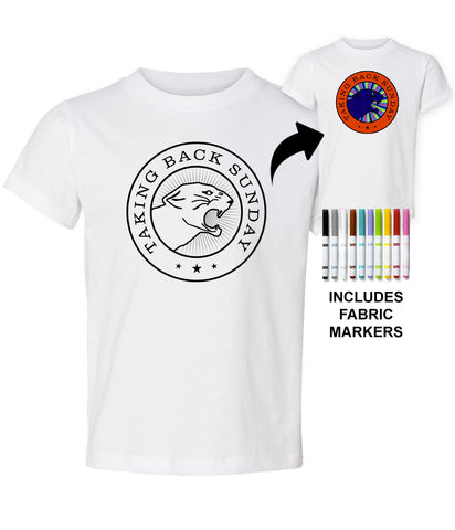 Taking Back Sunday Color My Panther Kids Shirt *PREORDER - SHIPS EARLY JUNE 2020