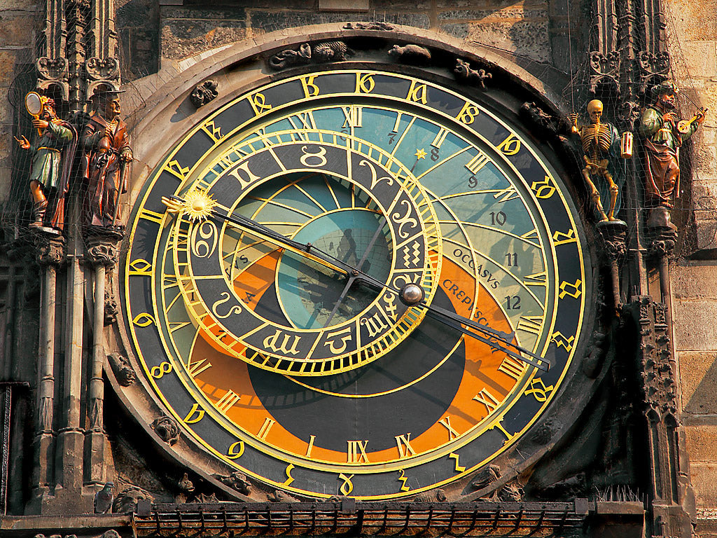 European Picture Of The Astronomical Clock In The Old Town