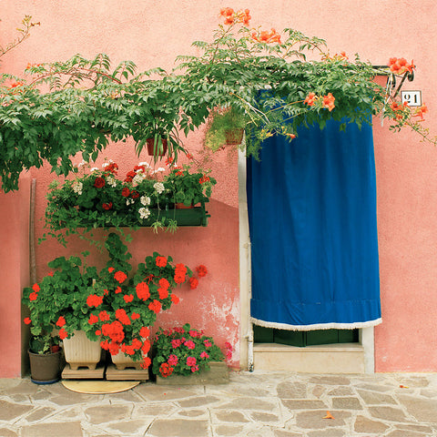 Blue Curtain- Burano, Italy