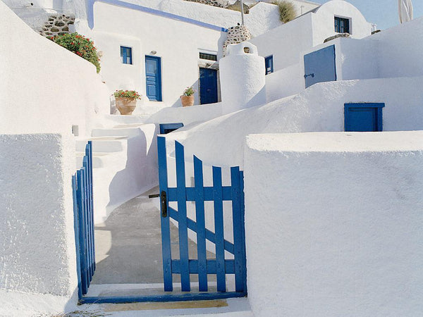 Blue Gate - Santorini, Greece