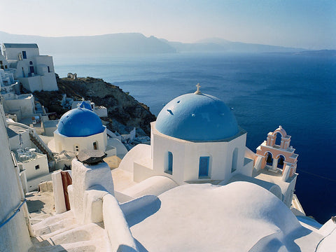 Churches and Sea - Santorini, Greece