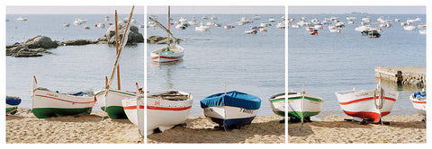 Fishing Boats Trilogy- Costa Brava, Spain