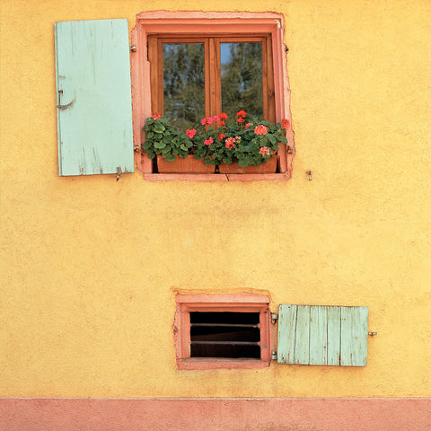 Opposing Shutters- Ribeauville(Alsace), France