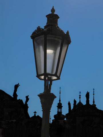 Streetlamp and Silhouette- Prague, Czech Republic