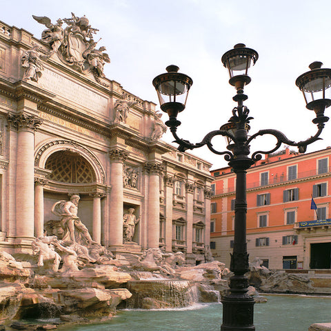 Trevi and Lamp - Rome (Trevi Fountain), Italy