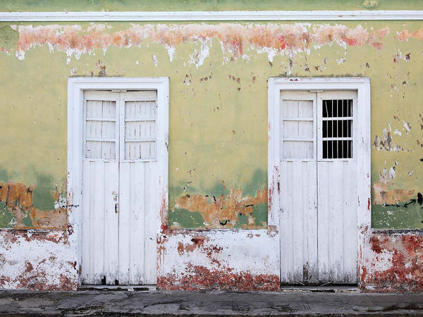 Two White Doors- Merida(Yucatan), Mexico