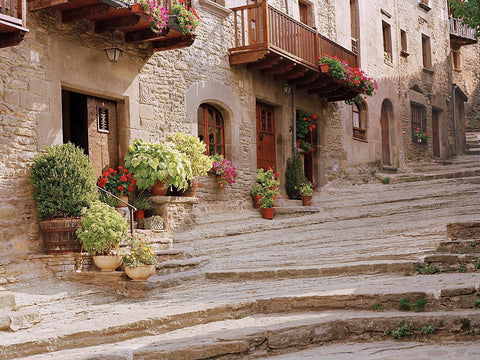 Village Stairs- Basque Country, Spain