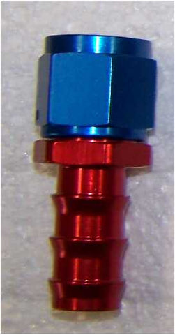 "AN6 - 3/8"" Barbed Hose End Straight"