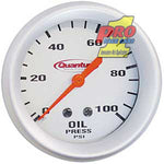 Quantum Oil Pressure Gauge Silver W/ Lights