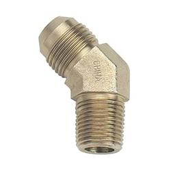 AN3 Male - Male 1/8 NPT Steel 45 degree fitting. Steel