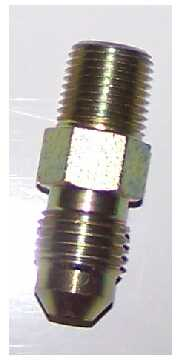 AN3 Male - Male 1/8 NPT fitting. Steel
