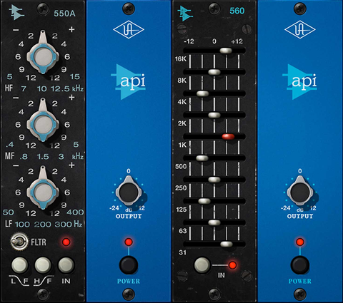 Diego's Corner  BLOG no. 41 - UAD's API® 500 Series EQ Collection plug-in.