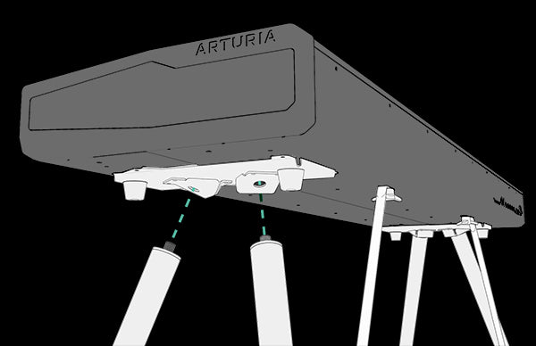 Arturia Wooden Leg Stand for KeyLab 88 MKII