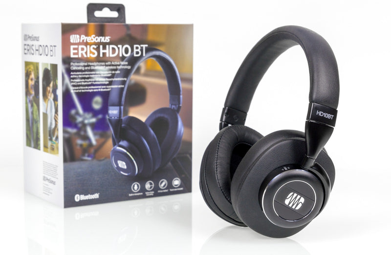 PreSonus Eris HD10BT Studio Headphones with Active Noise Canceling and Bluetooth 5.0