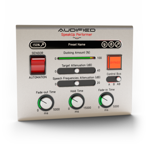 Audified Speakup! Plug-in Suite - Recording Voice Overs Easier Mac PC AU VST