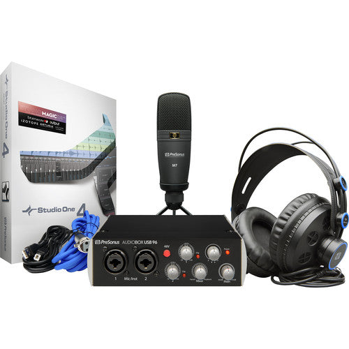 PreSonus AudioBox 96 Studio Complete Hardware/Software Recording Kit (Black Edition)
