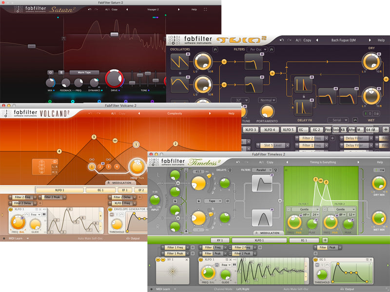 FabFilter Creative Bundle  Virtual Processor Software Plug-ins Mac/PC AU VST eDelivery