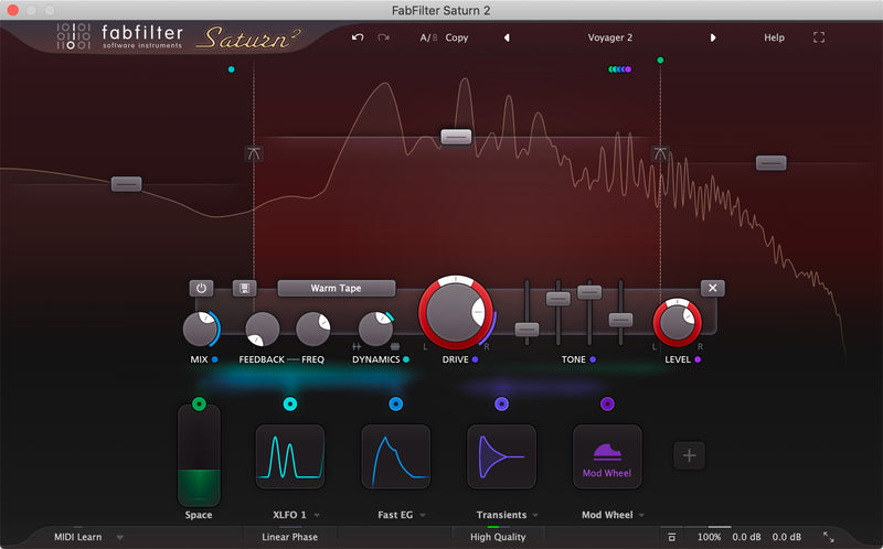 FabFilter Saturn 2 UPGRADE Warm Saturation Plug-in Virtual Processor Mac PC VST AU eDelivery