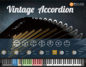 PSound Vintage Accordion Virtual Accordion Sample Library Software - eDelivery