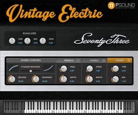 PSound Vintage Electric Virtual Vintage Electric Piano Software - eDelivery