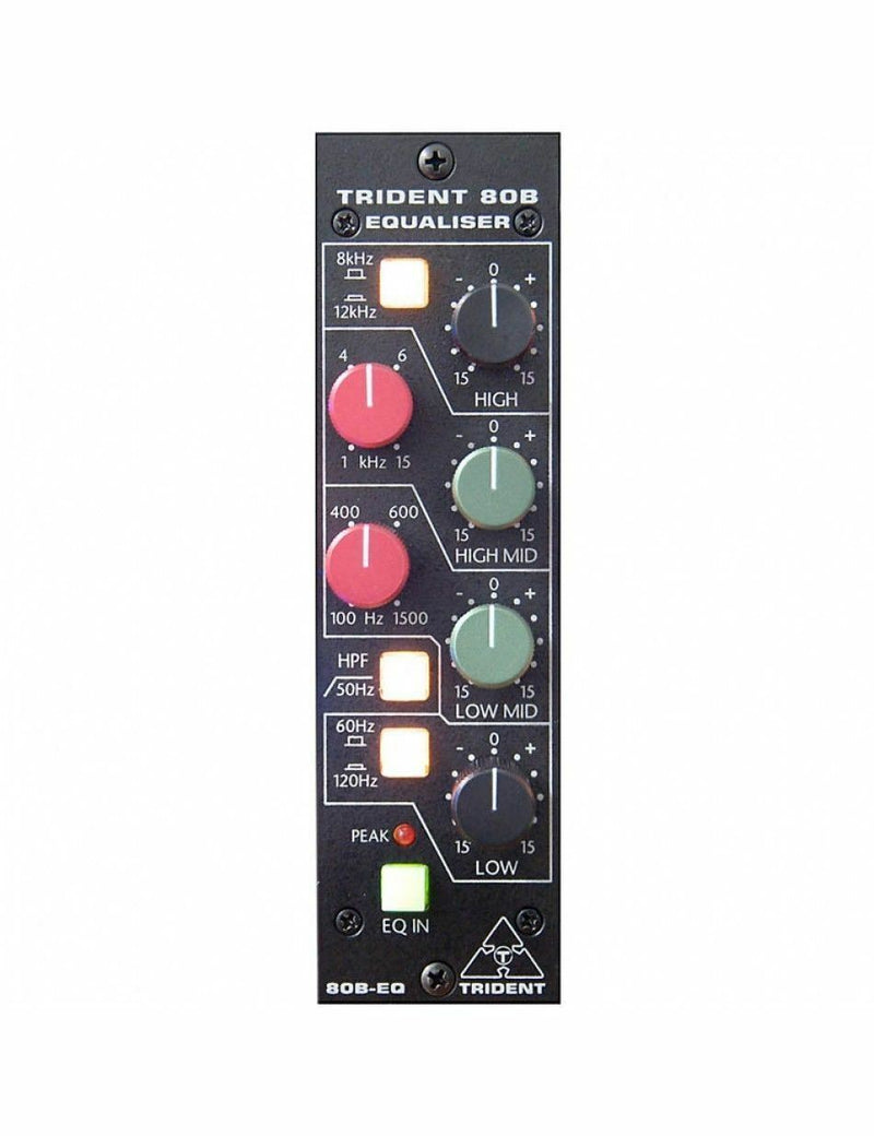 Trident Audio 80B-500EQ 4-Band Equalizer 500-Series Module (80B-500)