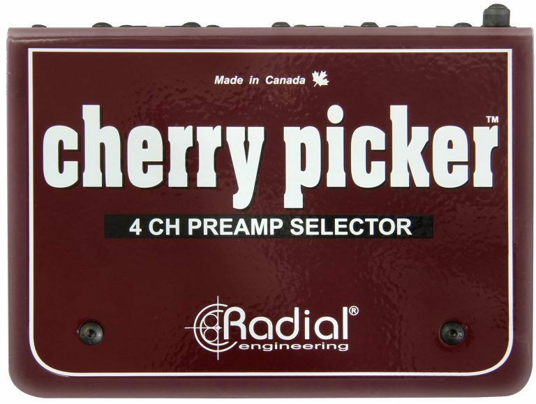 Radial Engineering Cherry Picker Mic-Line Switcher DI Direct Box
