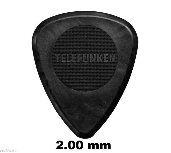 Telefunken Elektroakustik Graphite Guitar Picks 2mm Thick Circle (6-pack)