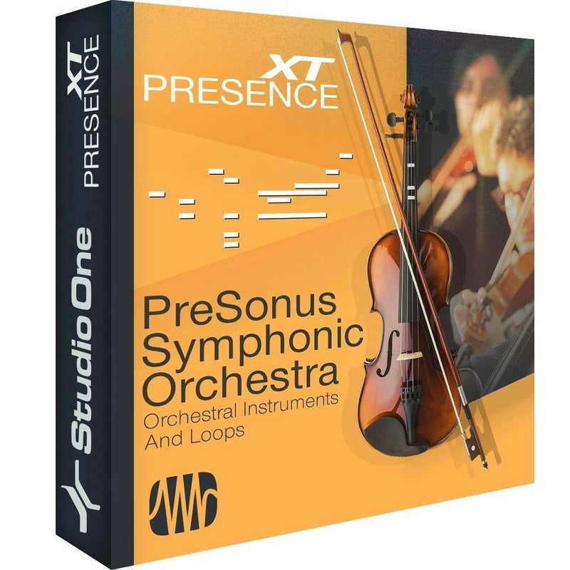 New PreSonus Symphonic Orchestra Mac/PC Studio One Add-on