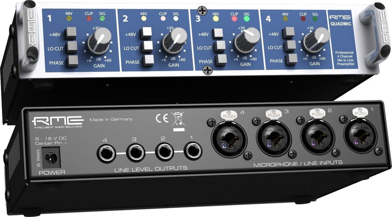 New RME Audio QuadMic II / 4-channel Mic Preamp Battery Powerable Studio Quality
