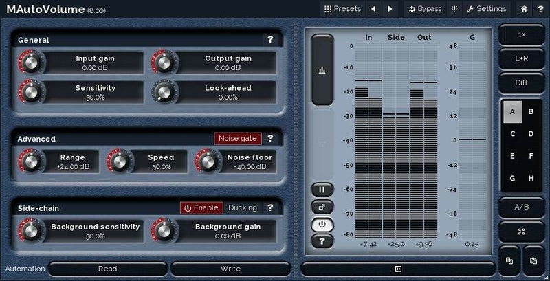 Melda Production MAutoVolume Automatic Gain Riding Plugin Software - eDelivery