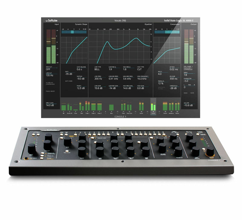 Softube Console 1 MKII Knobs Computer Controller Hands On EQ Compression SSL UAD