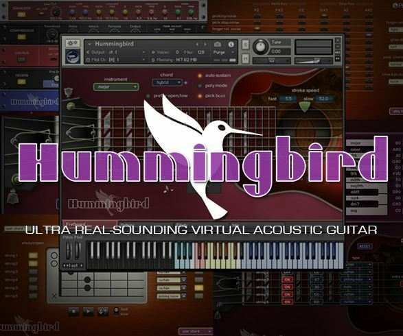 Prominy Hummingbird Acoustic Guitar Virtual Instrument Software - eDelivery