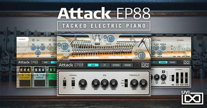 UVI Attack EP88 Tacked Electric Piano Software Instrument - eDelivery