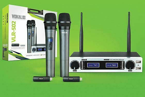 New Vokal Professional VLR-502 Wireless Professional Microphones and System
