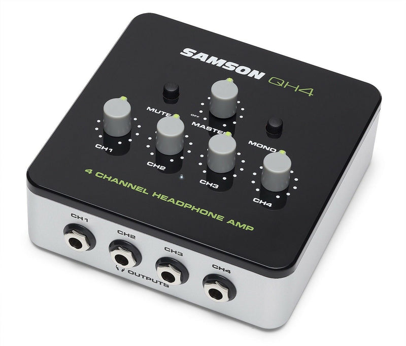 New Samson QH4 - 4-Channel Headphone Distribution Amplifier - Free Headphones*